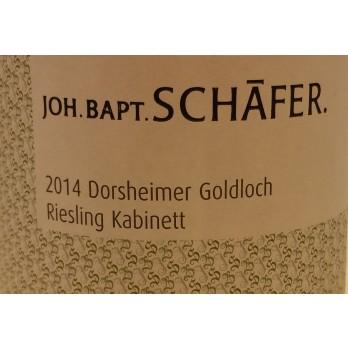 """2014 Dorsheim Goldloch Kabinett """"Versteigerung"""" Grosse Lage 0,75l - Weingut Joh.Bapt.Schäfer"""