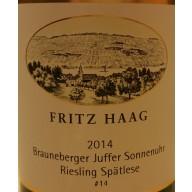 """2014 Juffer Sonnenuhr Riesling Spätlese """"Versteigerung"""" 0,75 l - Weingut Fritz Haag"""