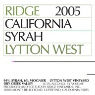 2005 Lytton Springs 0,75l - Ridge Vineyards